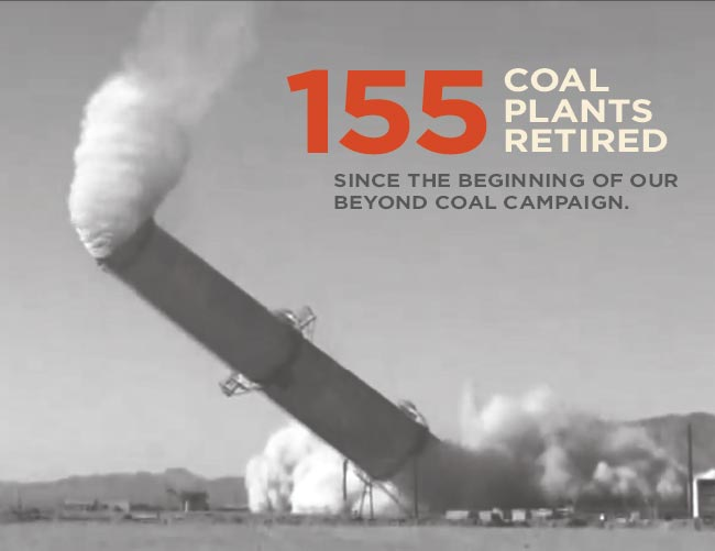 155 coal plants retired