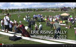 6/2/12 Erie Rising rally, co-sponsored by Sierra Club