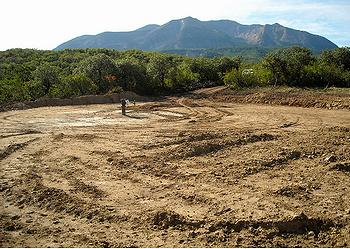 WildEarth Guardians photo of a cleared pad for coal developm