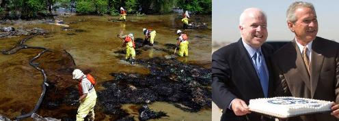 2008 Oil Spill, Bush-McCain as Katrina Approached