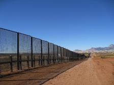 Border wall in San Pedro