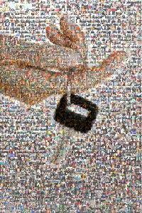 Hand with Keys Photomosaic