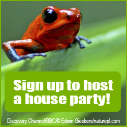 Click here to host a house party and party for wildlife!