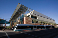 Phoenix Convention Center with light rail