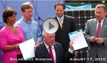 Solar Bill Signing
