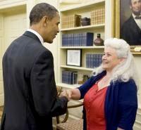 Lynn Henning meets President Obama