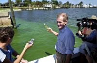 Sen. Nelson visits algae bloom on St. Lucie