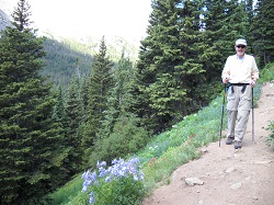 Bill Ikler on Arapahoe Pass