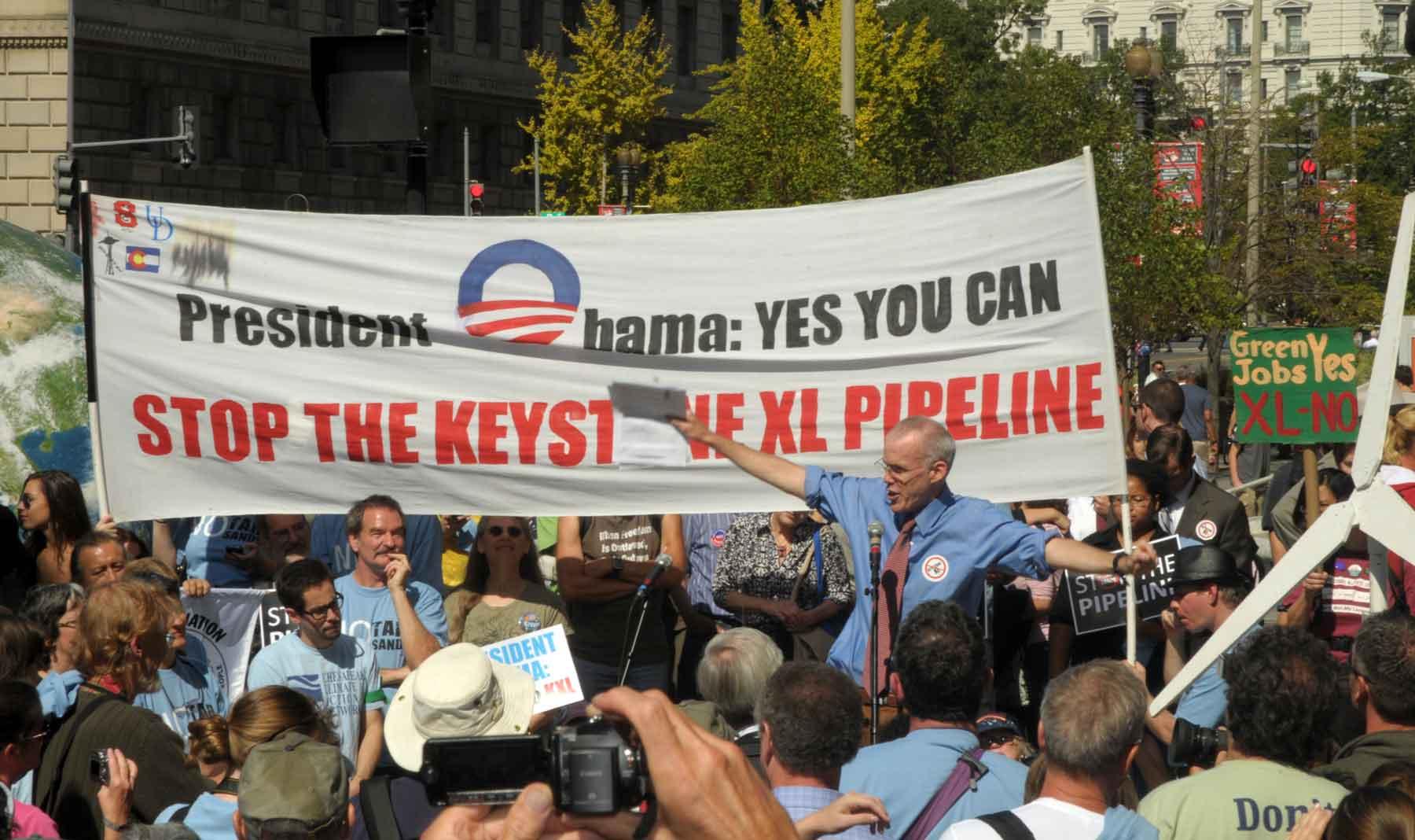 McKibben Rallys XL Pipeline Protesters