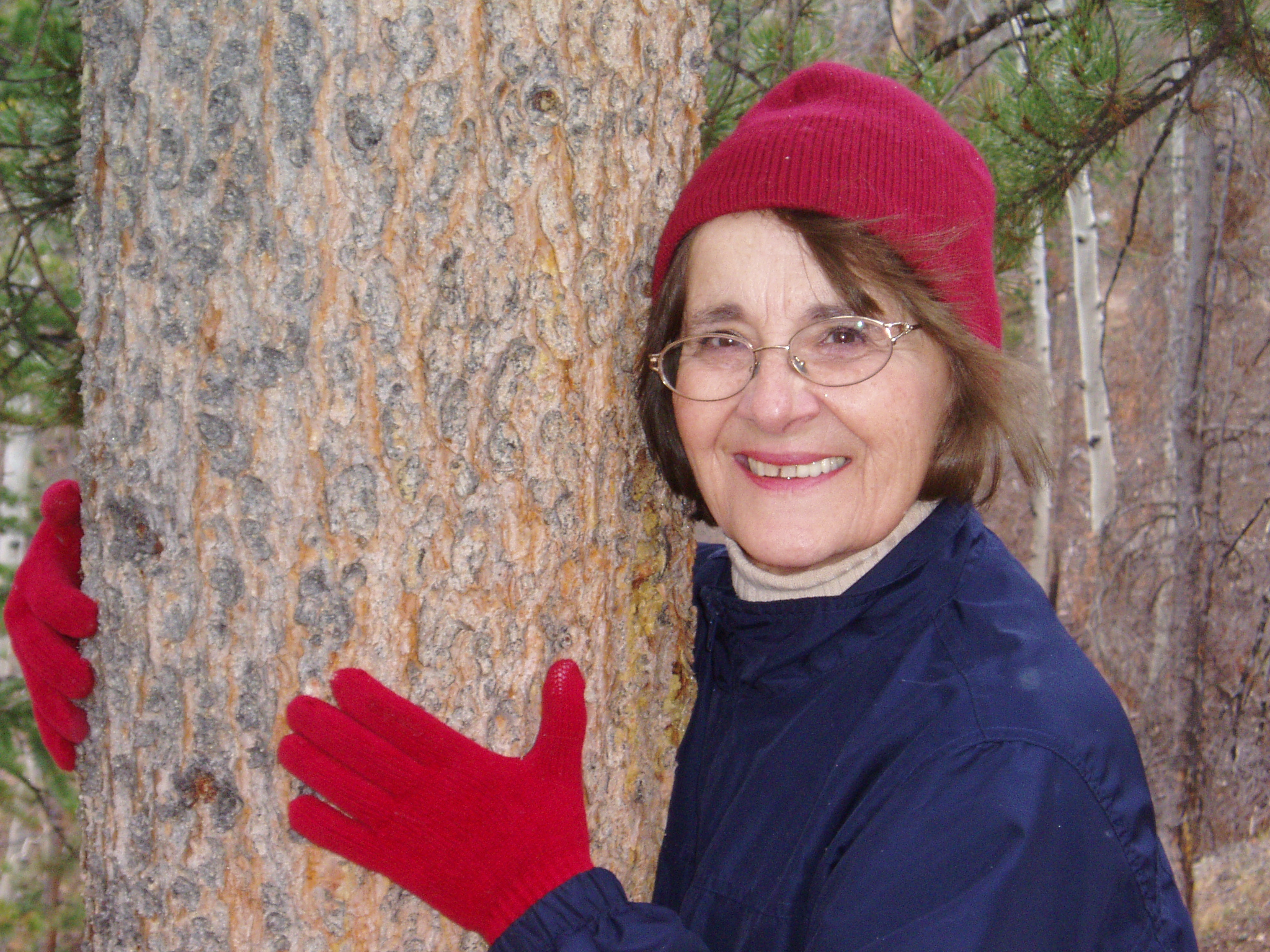 Carol Carpenter, a proud tree hugger