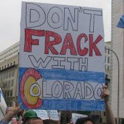 Anti-Fracking Rally in Denver