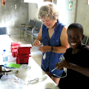 Cindy Reid and Emmanuel in Haiti