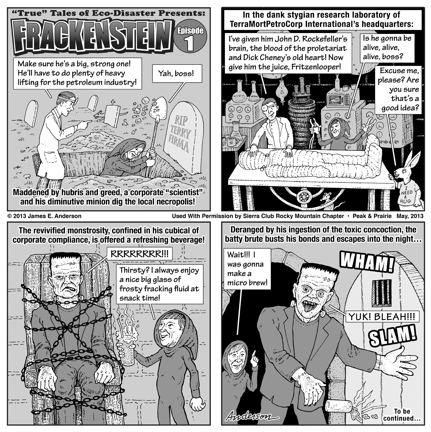 Frackenstein toon episode 1, by Jim Anderson