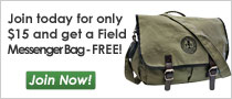 Join the Sierra Club for $15 and get a free messenger bag