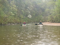 Jacks Fork5  canoeing in the rain