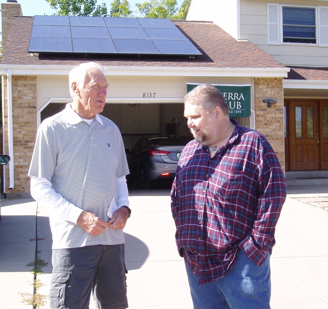 Jim Hart and Don Koch at solar open house