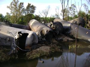Rail Oil Tanker Accident