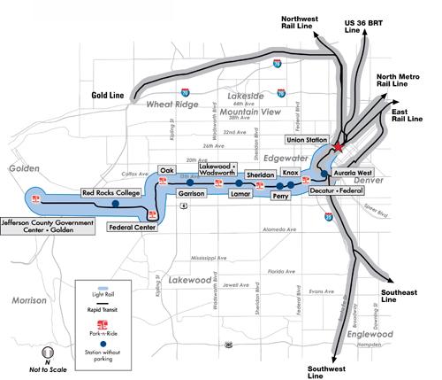 Denver West Light Rail Line