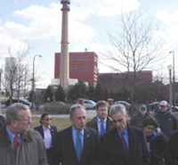 Bloomberg and Emmanuel at the Fisk Power Plant
