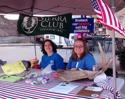 Sierra Club table at Concord Market Days, July 2014
