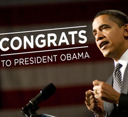 Congrats President Obama