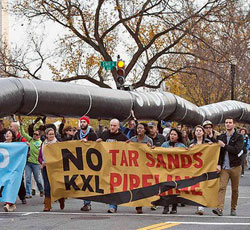 Protesting the Keystone XL Pipeline