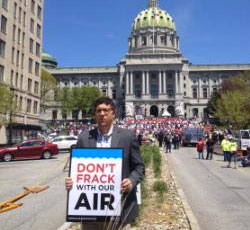 Grassroots Activism: Protesting a Pro-Gas Rally