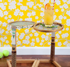 Tennis Racket End Table