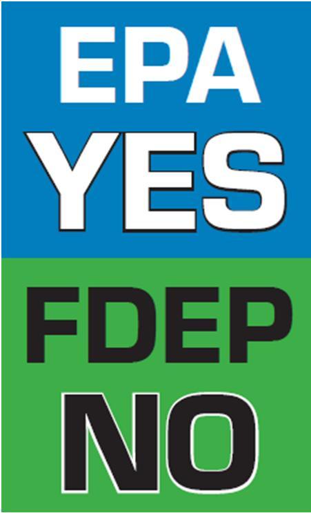 EPA yes FDEP no
