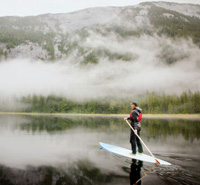 Paddleboarding in the Great Bear Rainforest