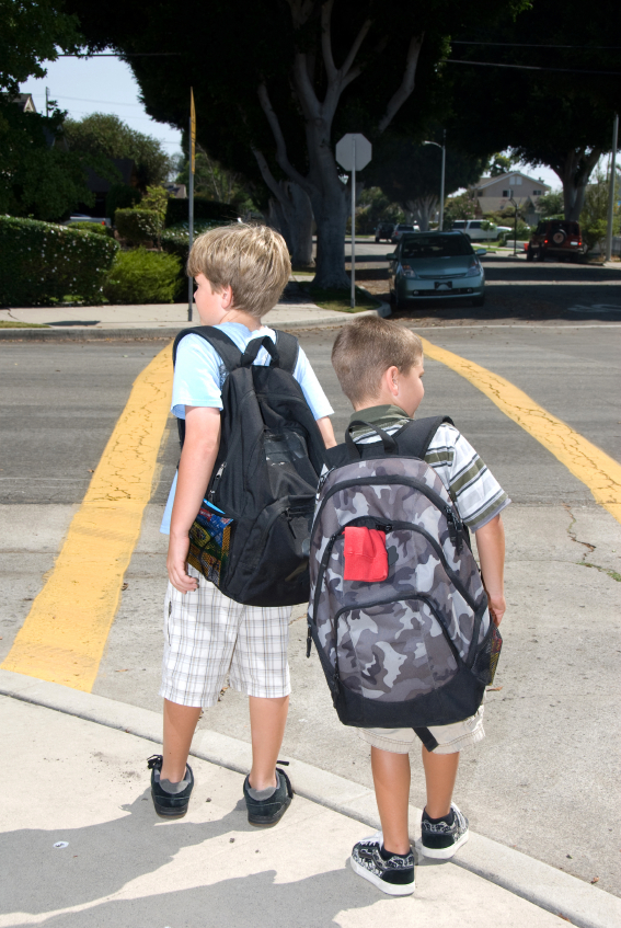 kids in crosswalk