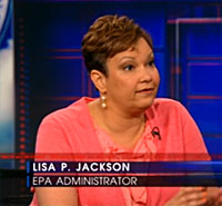 EPA administrator Lisa P. Jackson on The Daily Show