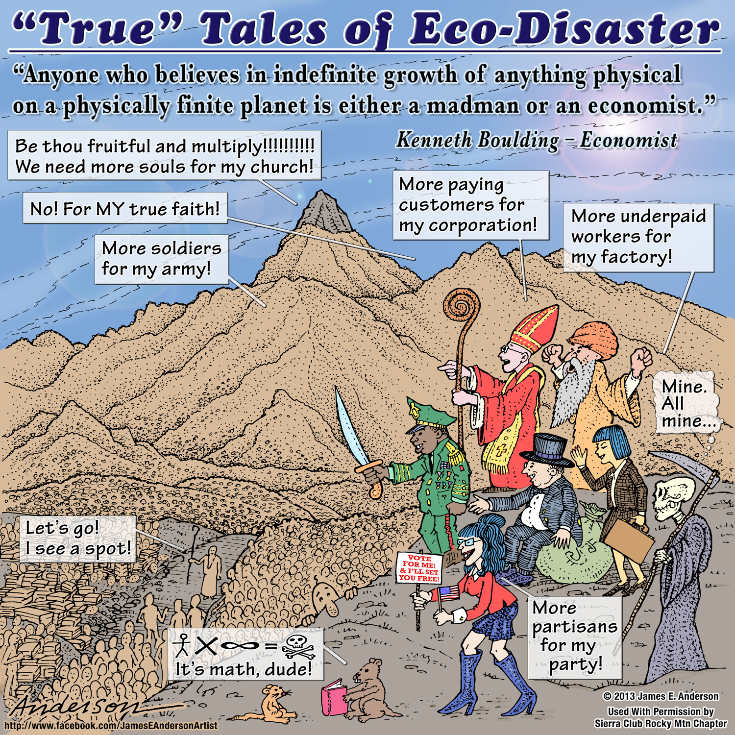 True Tales of Eco-Disaster September cartoon