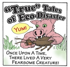 Pigosaurus cartoon (Panel 1), copyright Jim Anderson