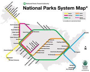 National Park Subway Map