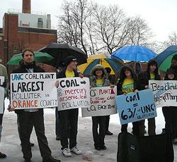 UNC Students Protest Coal