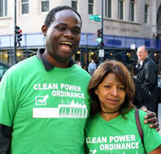 Chicago Sierra Club leaders Tony Fuller and Rose Gomez