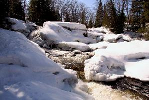 Yellow Dog River in Winter
